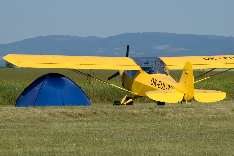 Private OK-EUL 22 aircraft at Žatec - Macerka