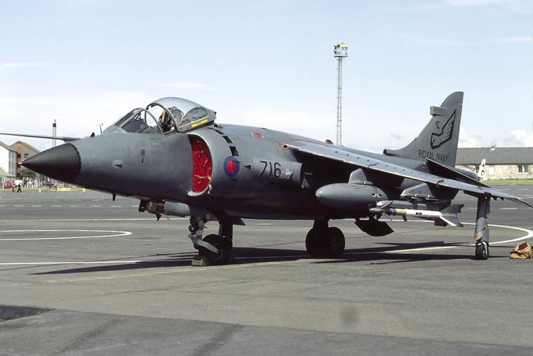Royal Navy XZ494 aircraft at Prestwick