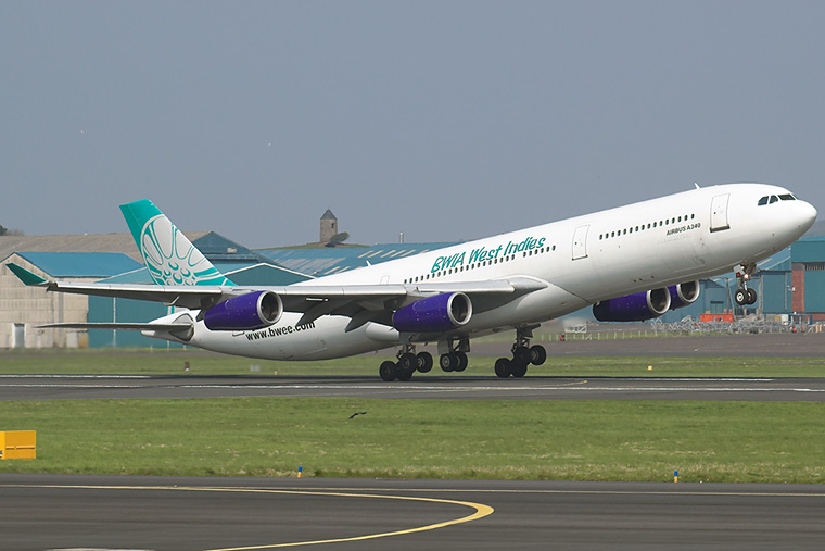 British West Indian Airlines 9Y-JIL aircraft at Prestwick