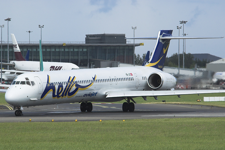 Hello HB-JIC aircraft at Dublin