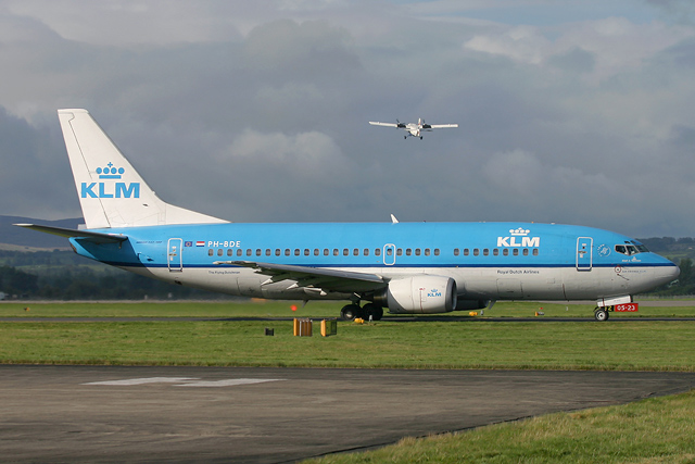 KLM PH-BDE aircraft at Glasgow