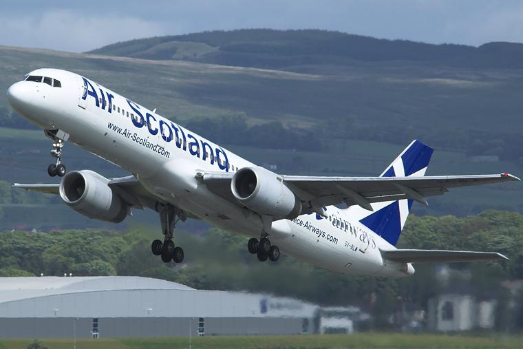 Air Scotland SX-BLW aircraft at Glasgow