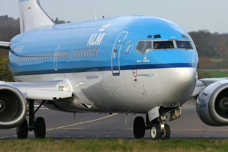 KLM PH-BDE aircraft at Edinburgh