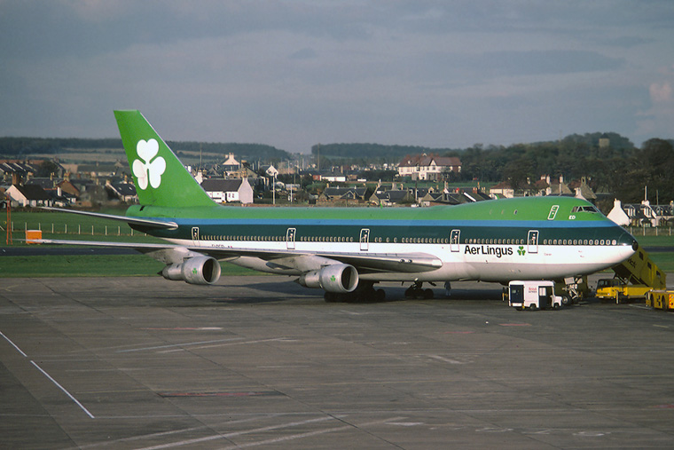 Aer Lingus EI-BED aircraft at Prestwick