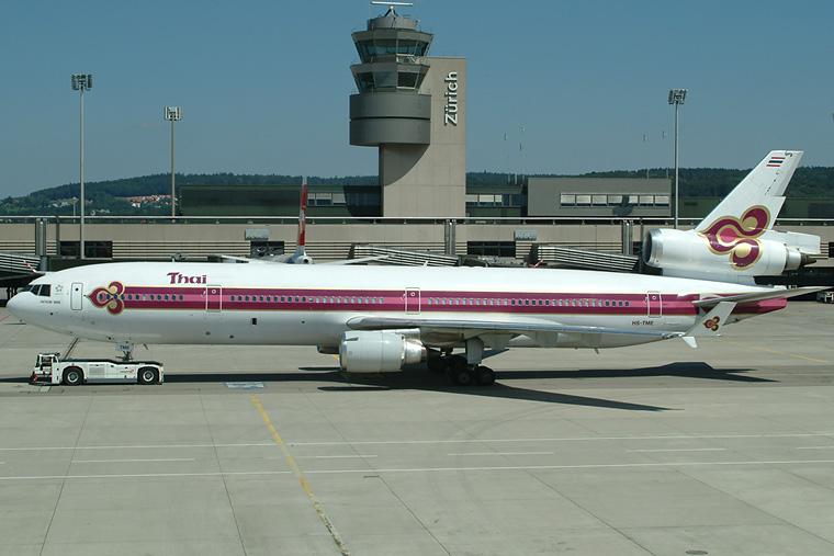 Thai Airways HS-TME aircraft at Zurich