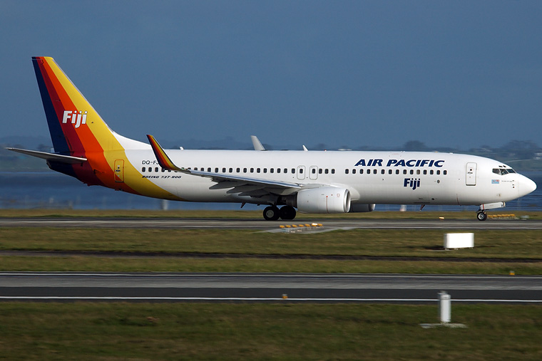 Air Pacific DQ-FJH aircraft at Auckland Intl