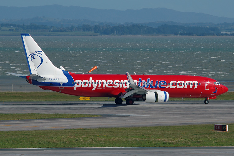 Polynesian Blue ZK-PBF aircraft at Auckland Intl