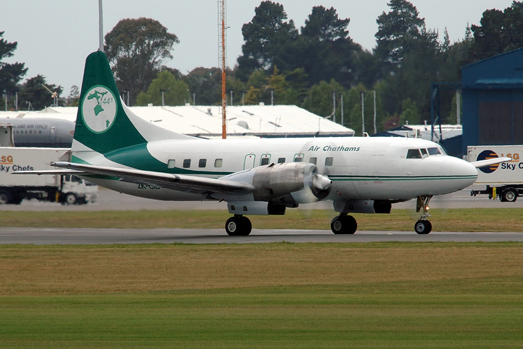 Air Chathams ZK-CIB aircraft at Christchurch Intl