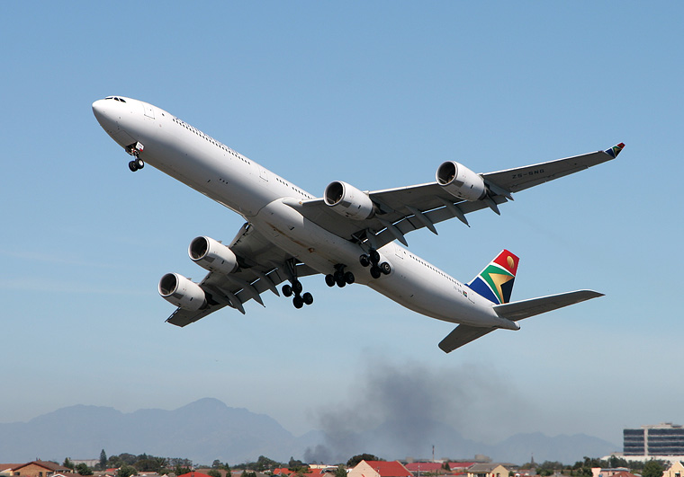 South African Airways ZS-SNG aircraft at Ysterplaat - Cape Town