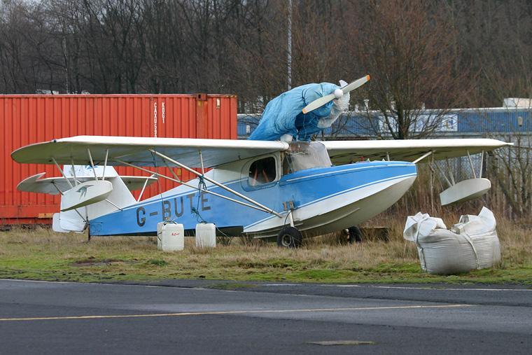 Private G-BUTE aircraft at Cumbernauld