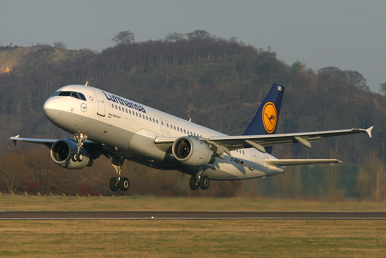 Lufthansa D-AIQD aircraft at Edinburgh