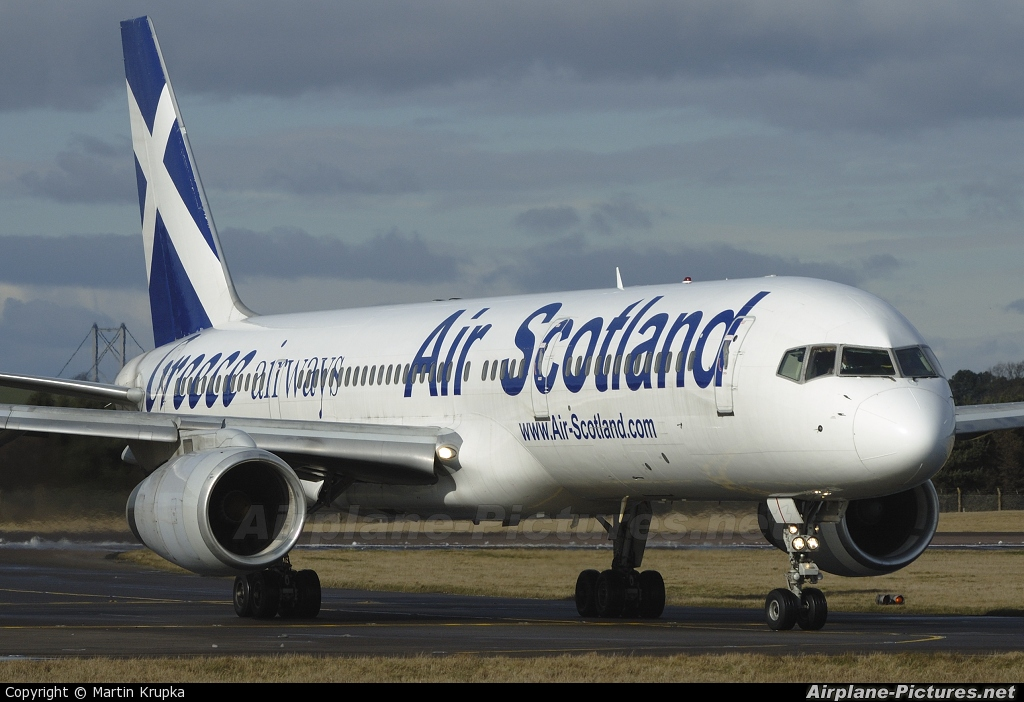 Air Scotland SX-BLW aircraft at Edinburgh