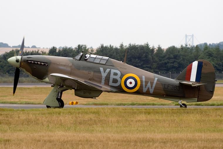 "Royal Air Force ""Battle of Britain Memorial Flight"" LF363 aircraft at Edinburgh"