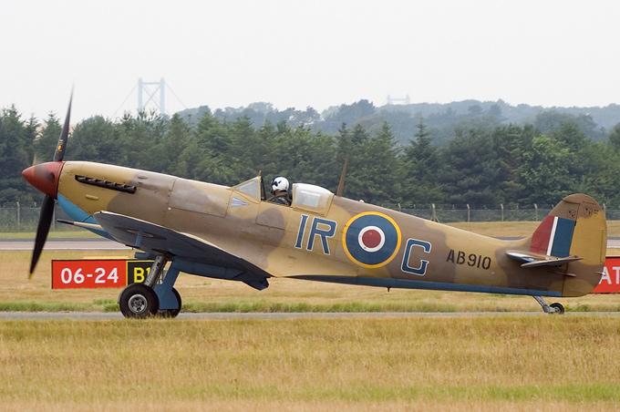 "Royal Air Force ""Battle of Britain Memorial Flight&quot AB910 aircraft at Edinburgh"