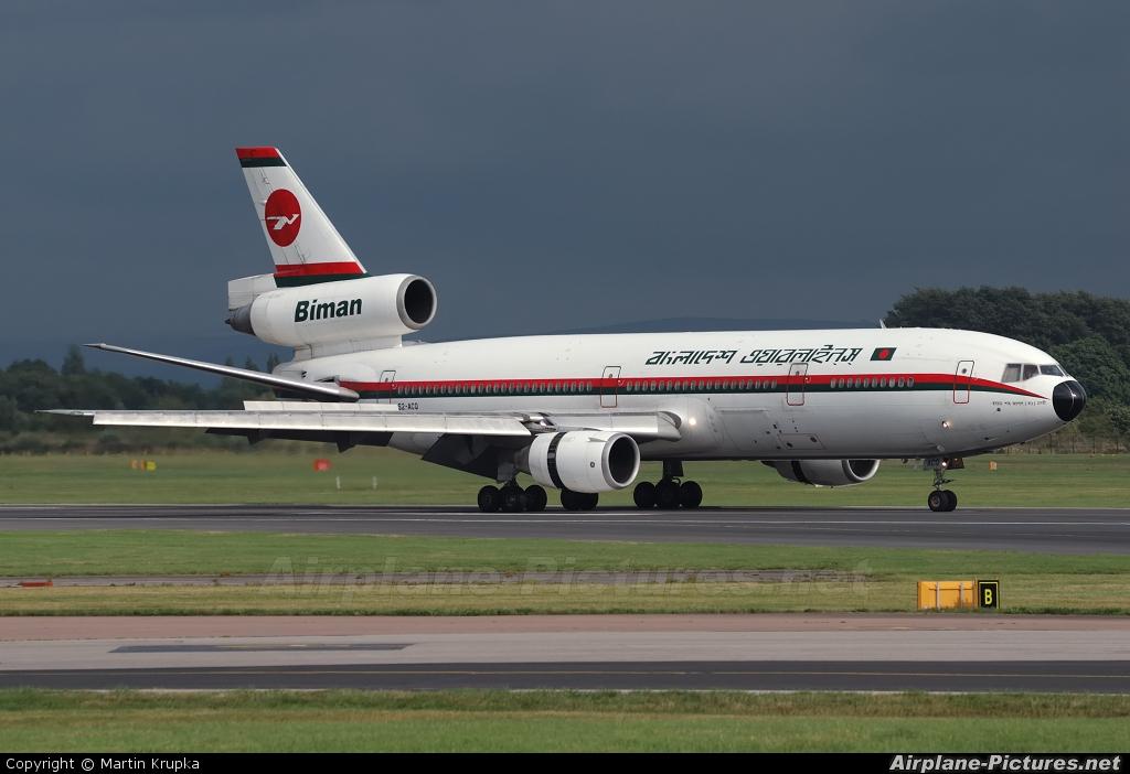 Biman Bangladesh S2-ACQ aircraft at Manchester