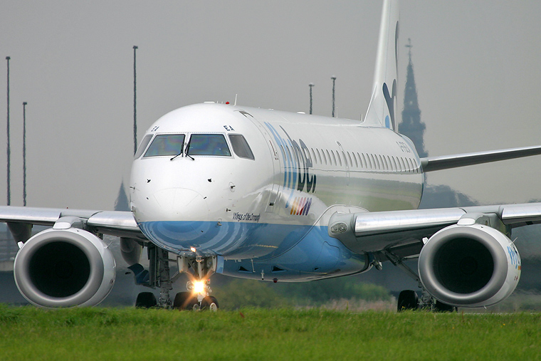 Flybe G-FBEA aircraft at Glasgow