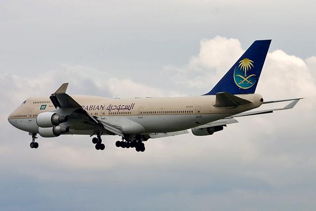 Saudi Arabian Airlines HZ-AIY aircraft at Frankfurt