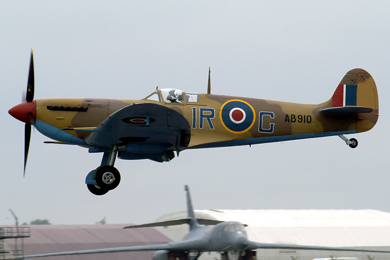 "Royal Air Force ""Battle of Britain Memorial Flight&quot AB910 aircraft at Fairford"