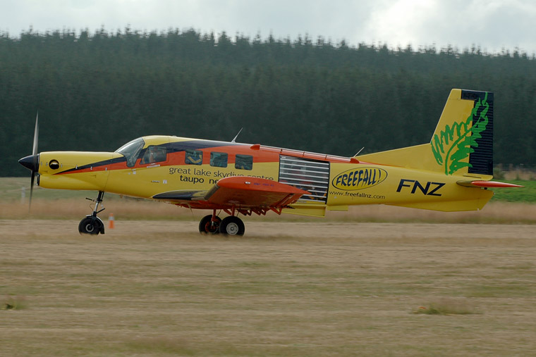 Great Lake Sky Diving Centre ZK-FNZ aircraft at Taupo