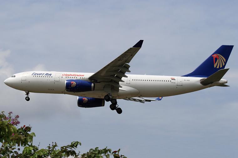 Egyptair SU-GCE aircraft at Kuala Lumpur Intl