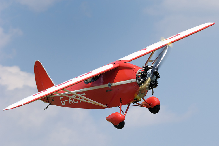 The Shuttleworth Collection G-ACTF aircraft at Old Warden