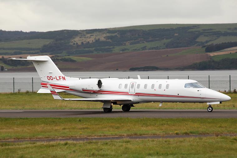 Abelag Aviation OO-LFN aircraft at Dundee