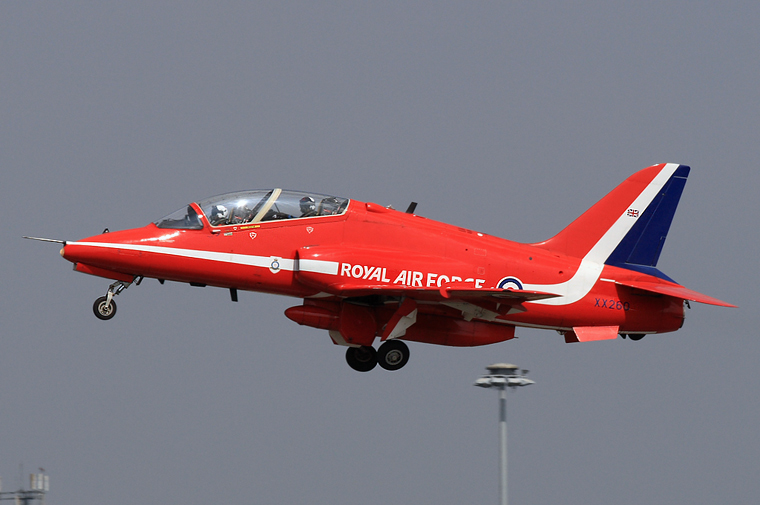 "Royal Air Force ""Red Arrows"" XX260 aircraft at Subang - Sultan Abdul Aziz Shah"