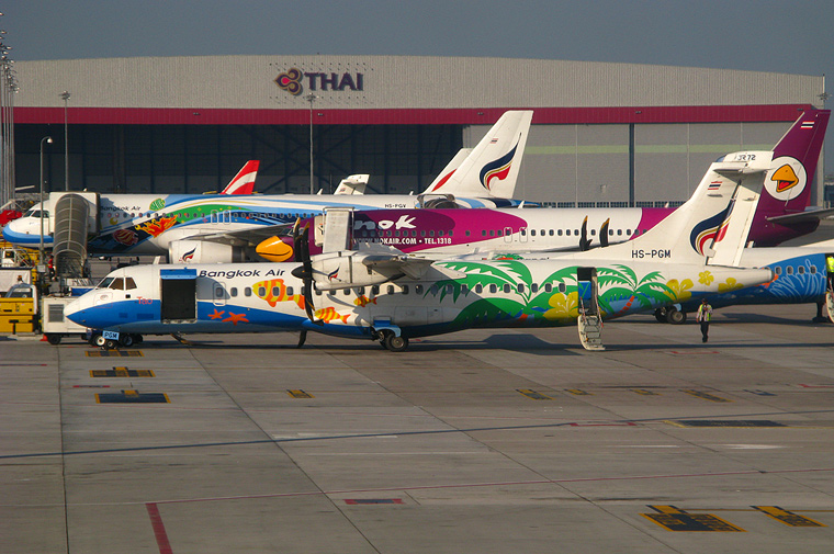 Bangkok Airways HS-PGM aircraft at Bangkok - Suvarnabhumi
