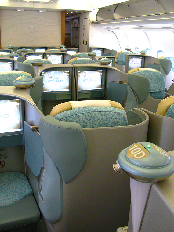Etihad Airways A6-EYP aircraft at Abu Dhabi Intl