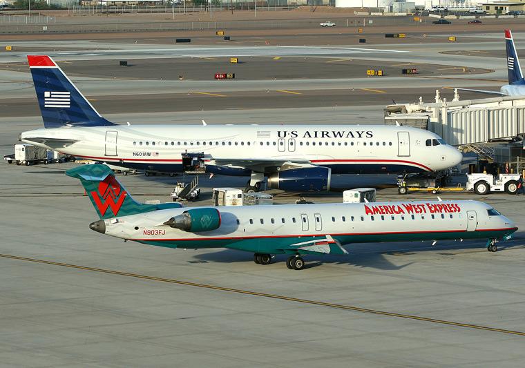 America West Express - Mesa Airlines N903FJ aircraft at Phoenix - Sky Harbor Intl