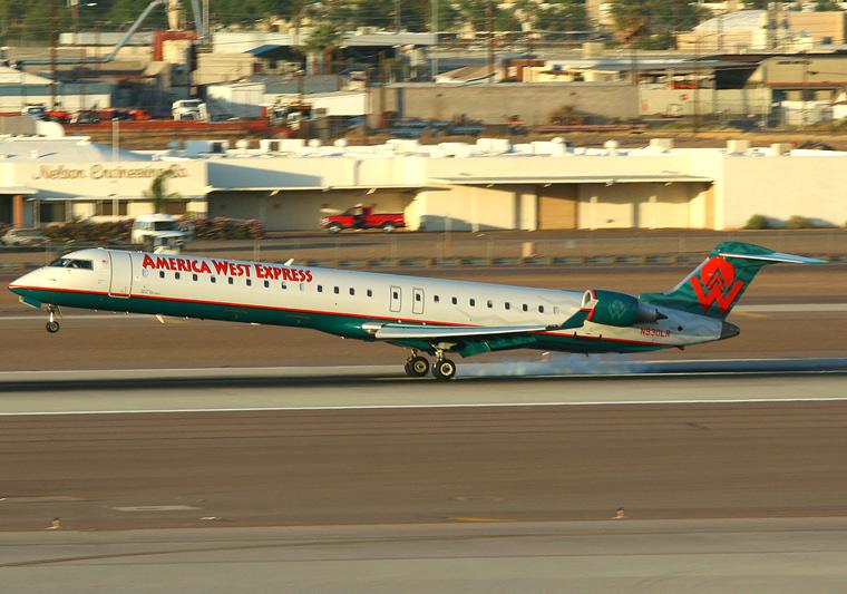 America West Express - Mesa Airlines N930LR aircraft at Phoenix - Sky Harbor Intl