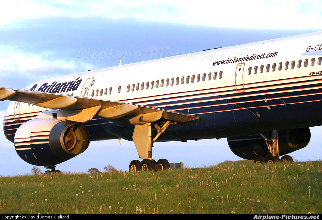 Britannia Airways G-CDUO aircraft at Bristol - Lulsgate
