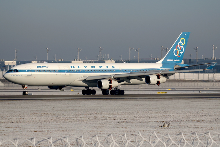 Olympic Airlines SX-DFC aircraft at Munich