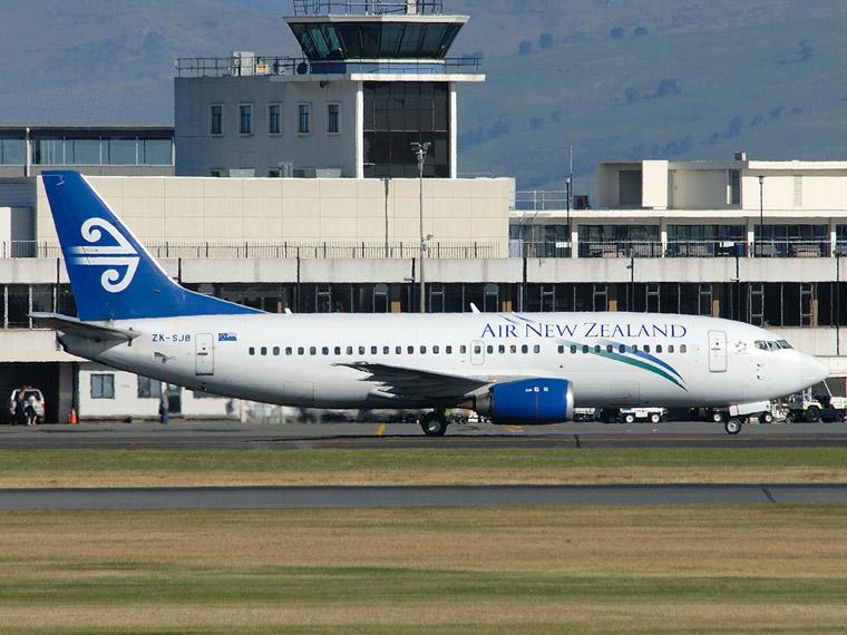 Air New Zealand ZK-SJB aircraft at Christchurch Intl