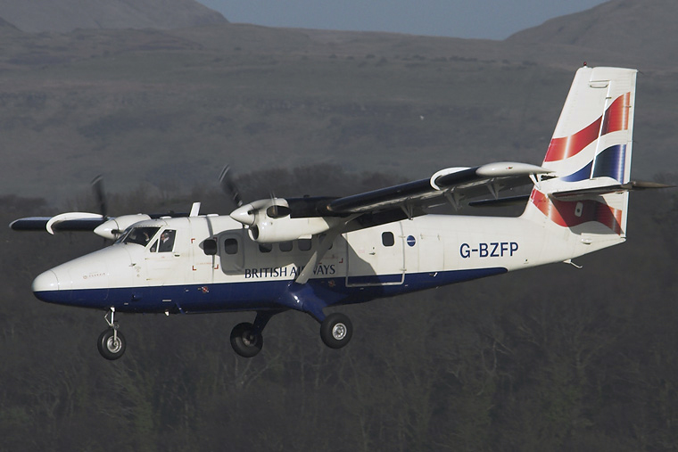British Airways - Loganair G-BZFP aircraft at Glasgow