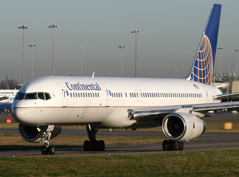 Continental Airlines N13110 aircraft at Birmingham