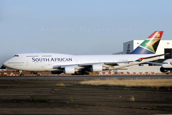 ZS-SBK - South African Airways Boeing 747-400