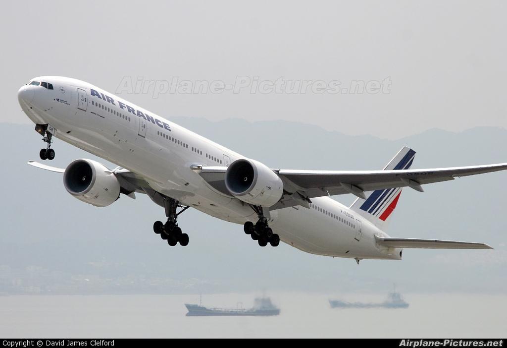Air France F-GSQB aircraft at Kansai Intl