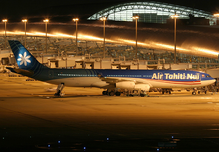Air Tahiti Nui F-OJTN aircraft at Kansai Intl