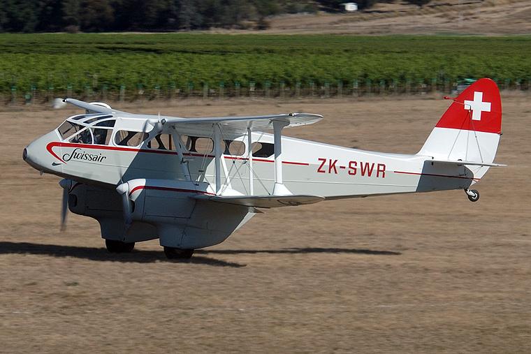 Swissair ZK-SWR aircraft at Omaka