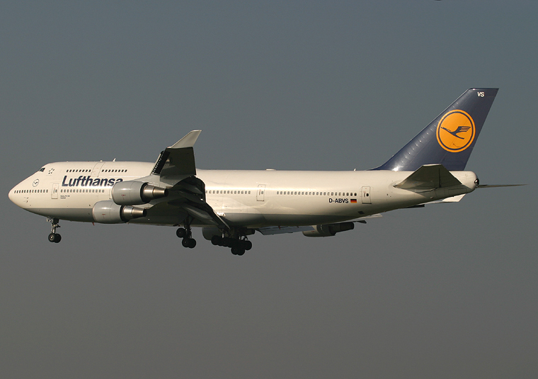 Lufthansa D-ABVS aircraft at Frankfurt