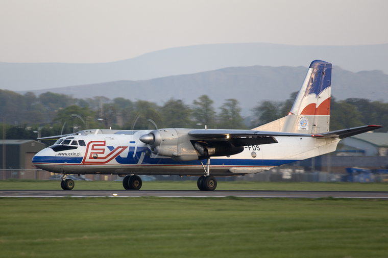 Exin SP-FDS aircraft at Edinburgh