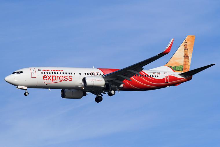 Air India Express VT-AXQ aircraft at Kuala Lumpur Intl