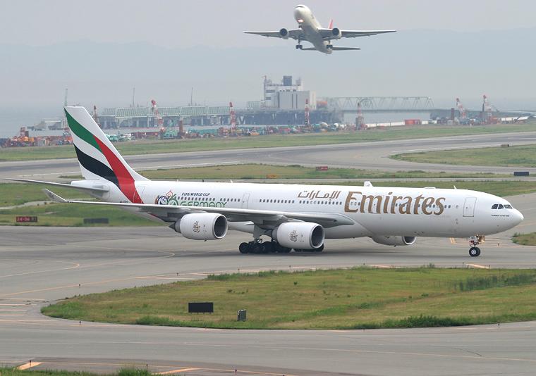 Emirates Airlines A6-ERD aircraft at Kansai Intl