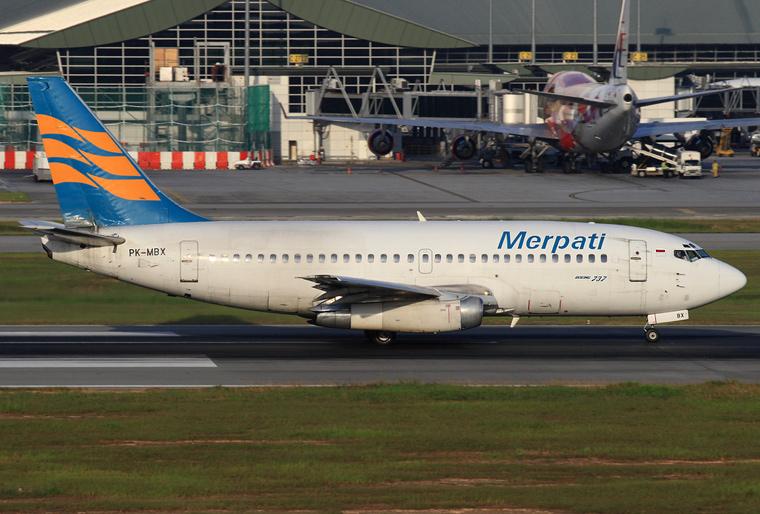 Merpati Nusantara Airlines PK-MBX aircraft at Kuala Lumpur Intl