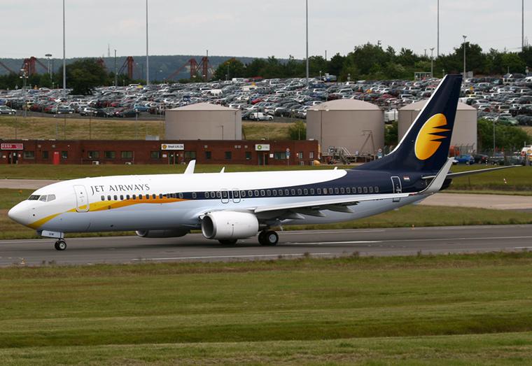 Jet Airways VT-JGW aircraft at Birmingham