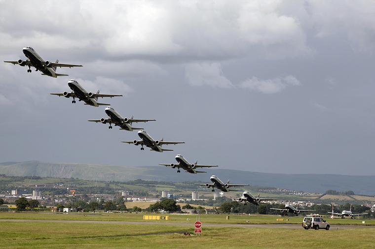 British Airways - aircraft at Glasgow