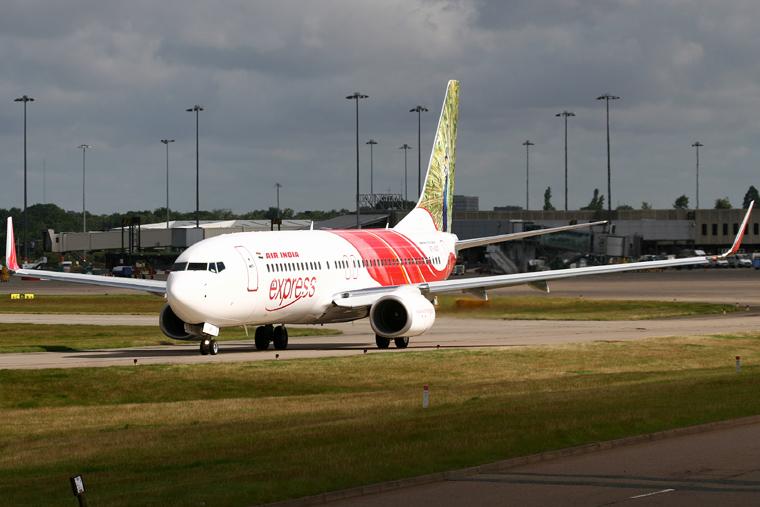 Air India Express VT-AXT aircraft at Birmingham