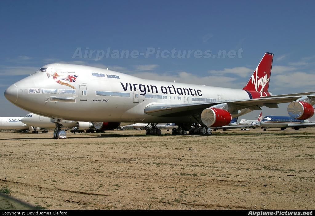 Virgin Atlantic G-VIBE aircraft at Mojave