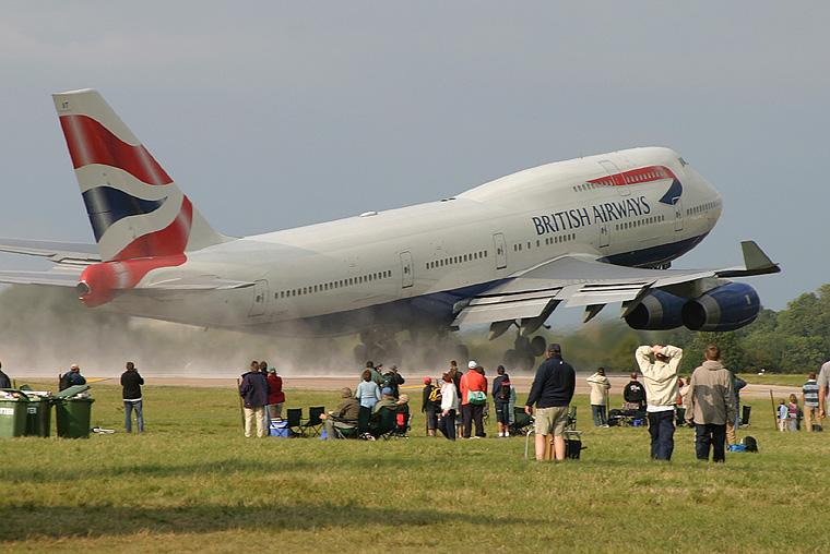 British Airways G-CIVT aircraft at Fairford